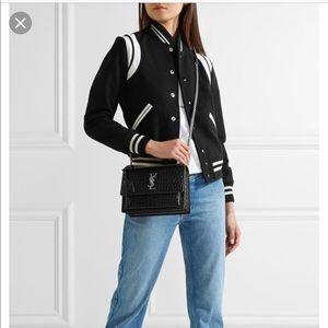 f207d08e52 Yves Saint Laurent Bags - YSL Medium Sunset in Black Croc Leather!